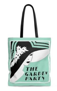 Kait's Bookshelf The Garden Party Online Tote Bag