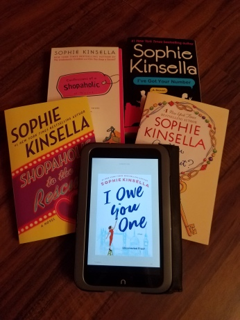 kait's bookshelf i owe you one sophie kinsella