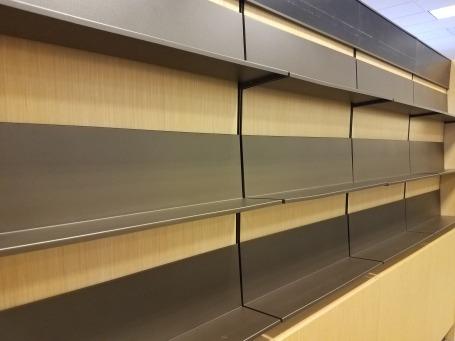 Bookstore empty shelves