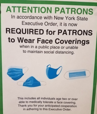 Library mask sign
